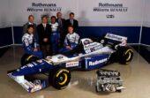 Williams FW17 Renault presentation with Damin Hill, David Coulthard, Adrian Newey & Patrick Head (1995)