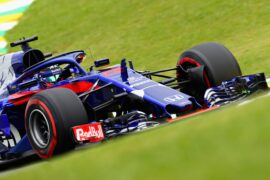 Brendon Hartley of New Zealand driving the (28) Scuderia Toro Rosso STR13 Honda on track during final practice for the Formula One Grand Prix of Brazil 2018 in Sao Paulo, Brazil.