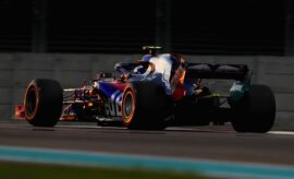 Pierre Gasly of France and Scuderia Toro Rosso driving the (10) Scuderia Toro Rosso STR13 Honda on track during practice for the Abu Dhabi Formula One Grand Prix at Yas Marina Circuit on November 23, 2018 in Abu Dhabi, United Arab Emirates.