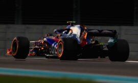 Pierre Gasly of France and Scuderia Toro Rosso driving the (10) Scuderia Toro Rosso STR13 Honda on track during Abu Dhabi Formula One Grand Prix 2018