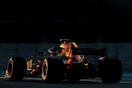 Max Verstappen of the Netherlands driving the (33) Aston Martin Red Bull Racing RB14 TAG Heuer on track during practice for the Abu Dhabi Formula One Grand Prix at Yas Marina Circuit on November 23, 2018 in Abu Dhabi, United Arab Emirates.