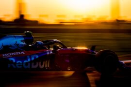 Pierre Gasly of Scuderia Toro Rosso and France during practice for the Abu Dhabi Formula One Grand Prix at Yas Marina Circuit on November 23, 2018 in Abu Dhabi, United Arab Emirates.