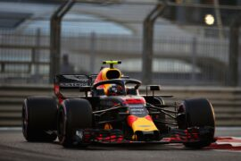 Max Verstappen of the Netherlands driving the (33) Aston Martin Red Bull Racing RB14 TAG Heuer on Abu Dhabi Formula One Grand Prix 2018