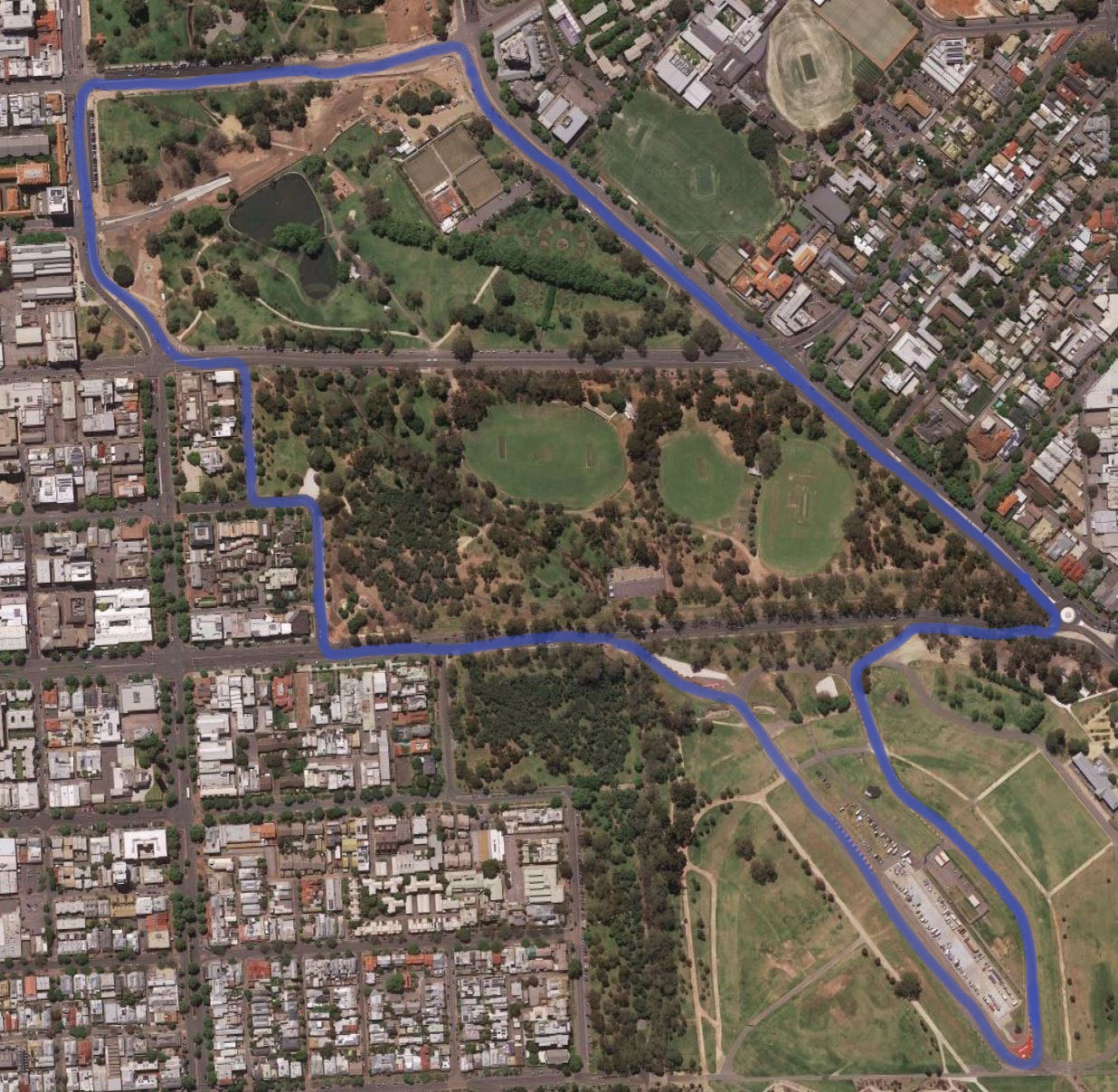 Adelaide street circuit layout