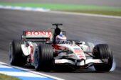 Jenson Button driving the Honda RA106 at Hockenheim, Germany (2006)