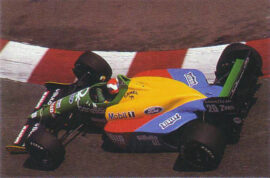 Benetton B189 Ford driven by Jonnhy Herbert in Monaco (1989)
