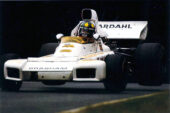 Brabham BT42 driven by Wilson Fittipaldi in Britiain (1973)