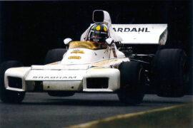 Brabham BT42 driven by Wilson Fittipaldi in Britiain (1973)