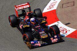 Daniel Ricciardo driving the Toro Rosso STR7 Ferrari at Monaco (2012)