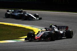 Kevin Magnussen Haas on track Brazil GP F1/2018