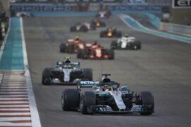 Formula One - Mercedes-AMG Petronas Motorsport, Abu Dhabi GP 2018. Lewis Hamilton, Valtteri Bottas
