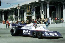Tyrrell P34 driven by Patrick Depailler(FRA) Tyrrell , 4th place US GP West, Long Beach, 3 April 1977