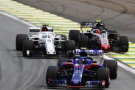 Pierre Gasly on track Brazil GP F1 2018