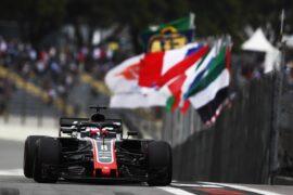 Romain Grosjean on track Haas Brazil GP F1/2018