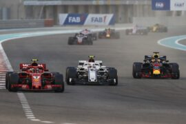 Kimi Raikkonen, Charles Leclerc & Daniel Ricciardo Abu Dhabi GP F1/2018