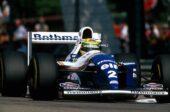 Ayrton Senna (BRA) Williams FW16 in action before his tragic fatal accident. San Marino Grand Prix, Imola, 1 May 1994.