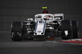 Charles Leclerc, Alfa Romeo Sauber C37 at Formula One World Championship, Rd21, Abu Dhabi Grand Prix, Practice, Yas Marina Circuit, Abu Dhabi, UAE, Friday 23 November 2018.