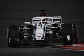 Marcus Ericsson, Alfa Romeo Sauber C37 at Formula One World Championship, Rd21, Abu Dhabi Grand Prix, Practice, Yas Marina Circuit, Abu Dhabi, UAE, Friday 23 November 2018.