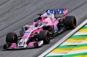 Sergio Perez (MEX) Racing Point Force India F1 VJM11. Brazilian Grand Prix, Sunday 11th November 2018. Sao Paulo, Brazil.
