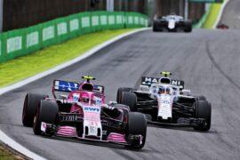Esteban Ocon (FRA) Racing Point Force India F1 VJM11. Brazilian Grand Prix, Sunday 11th November 2018. Sao Paulo, Brazil.
