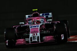 Esteban Ocon (FRA) Racing Point Force India F1 VJM11. Abu Dhabi Grand Prix, Friday 23rd November 2018. Yas Marina Circuit, Abu Dhabi, UAE.