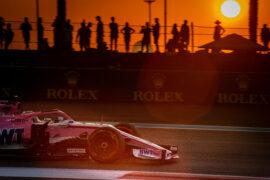 Sergio Perez (MEX) Racing Point Force India F1 VJM11. Abu Dhabi Grand Prix, Friday 23rd November 2018. Yas Marina Circuit, Abu Dhabi, UAE.