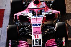 Sergio Perez (MEX) Racing Point Force India F1 VJM11. Abu Dhabi Grand Prix, Saturday 24th November 2018. Yas Marina Circuit, Abu Dhabi, UAE.
