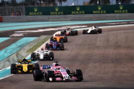 Sergio Perez (MEX) Racing Point Force India F1 VJM11. Abu Dhabi Grand Prix, Sunday 25th November 2018. Yas Marina Circuit, Abu Dhabi, UAE.