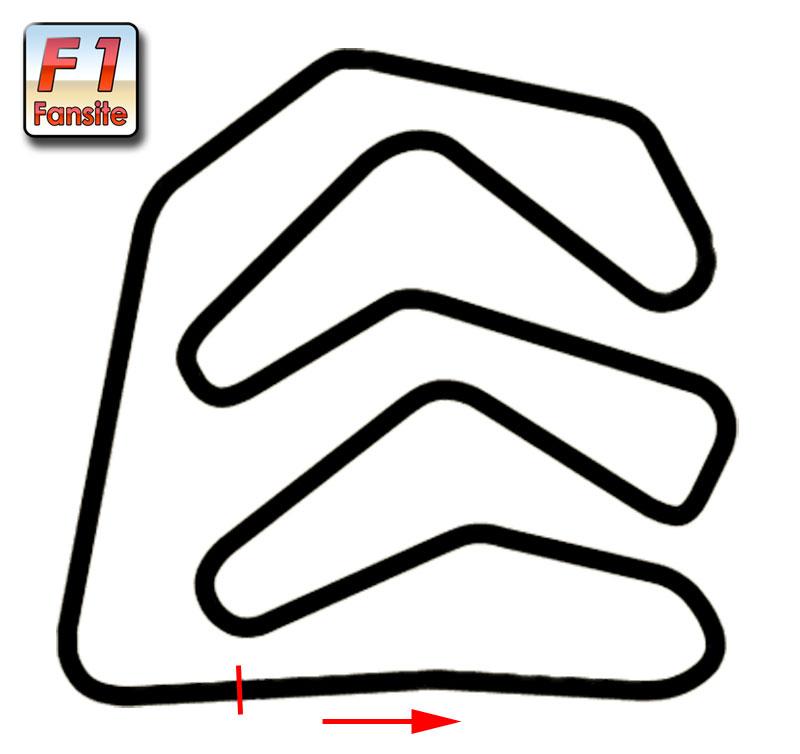 Caesar Palace F1 circuit Layout