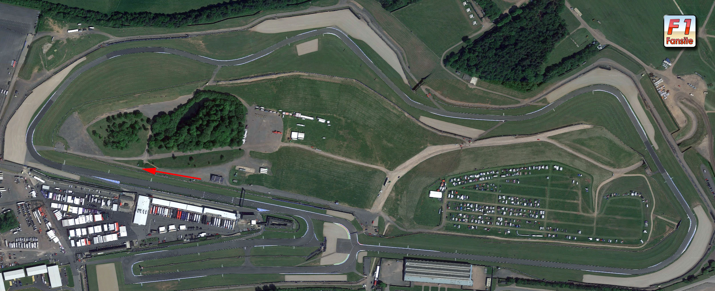 Donnington Park Circuit layout