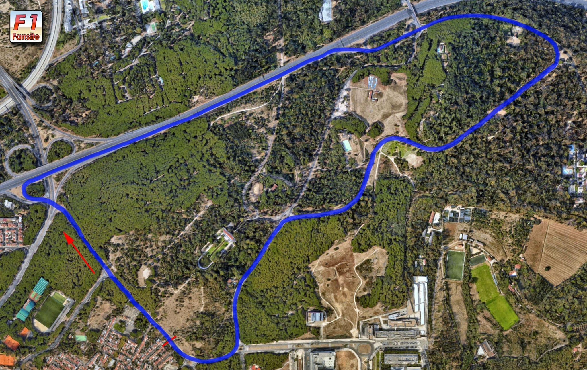 Monsanto Park Circuit layout