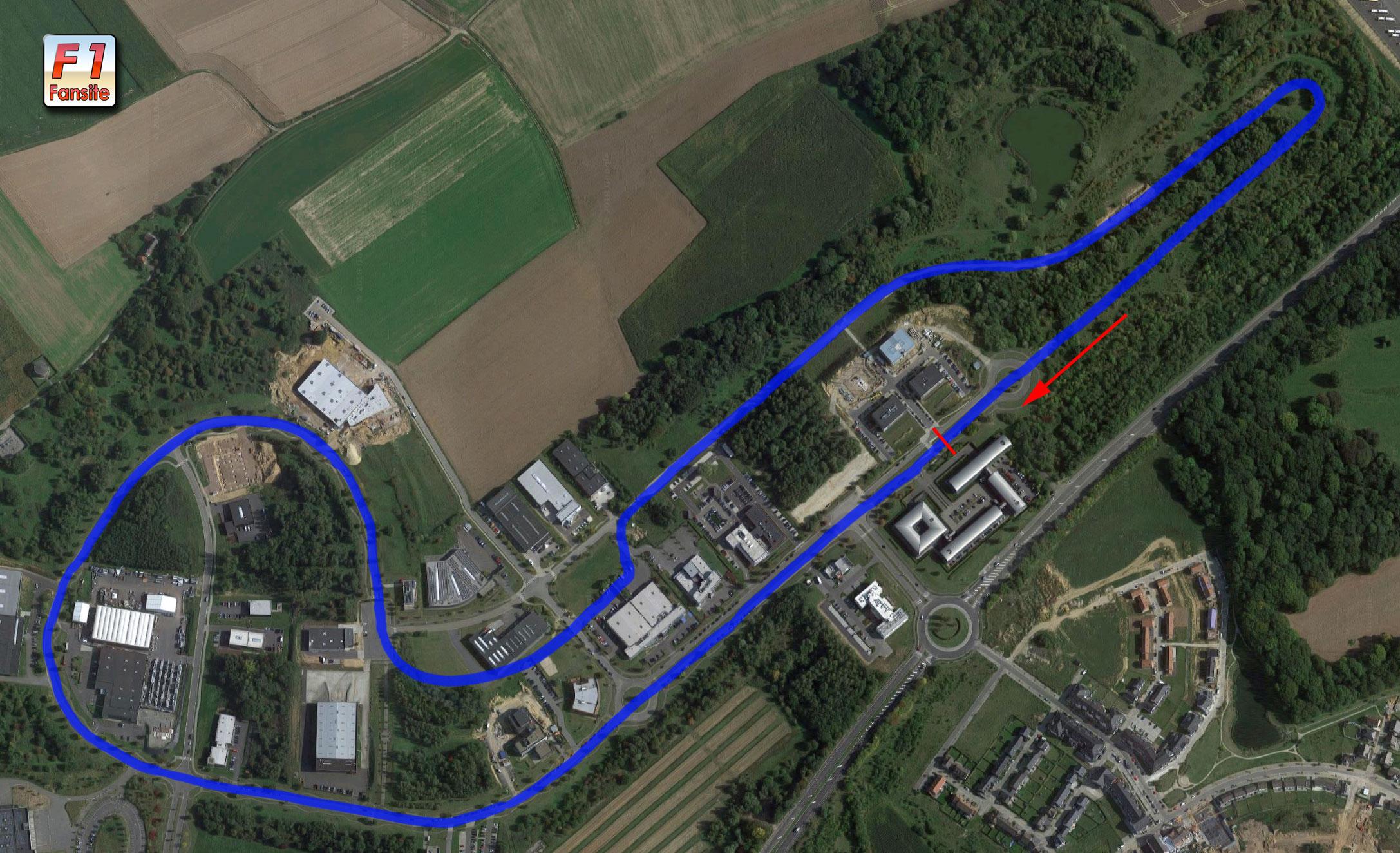 NIvelles Baulers circuit layout
