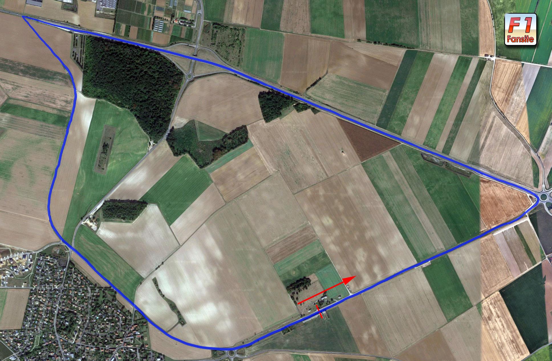 Reims-Gueux circuit-layout