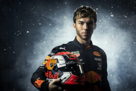 Pierre Gasly seen on the ice of Flevonice in Biddinghuizen, The Netherlands on the 04 of April 2019