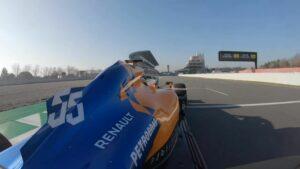 Carlos Sainz onboard MCL34 at Catalunya circuit