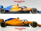 Comparison McLaren MCL34 VS MCL33 side view
