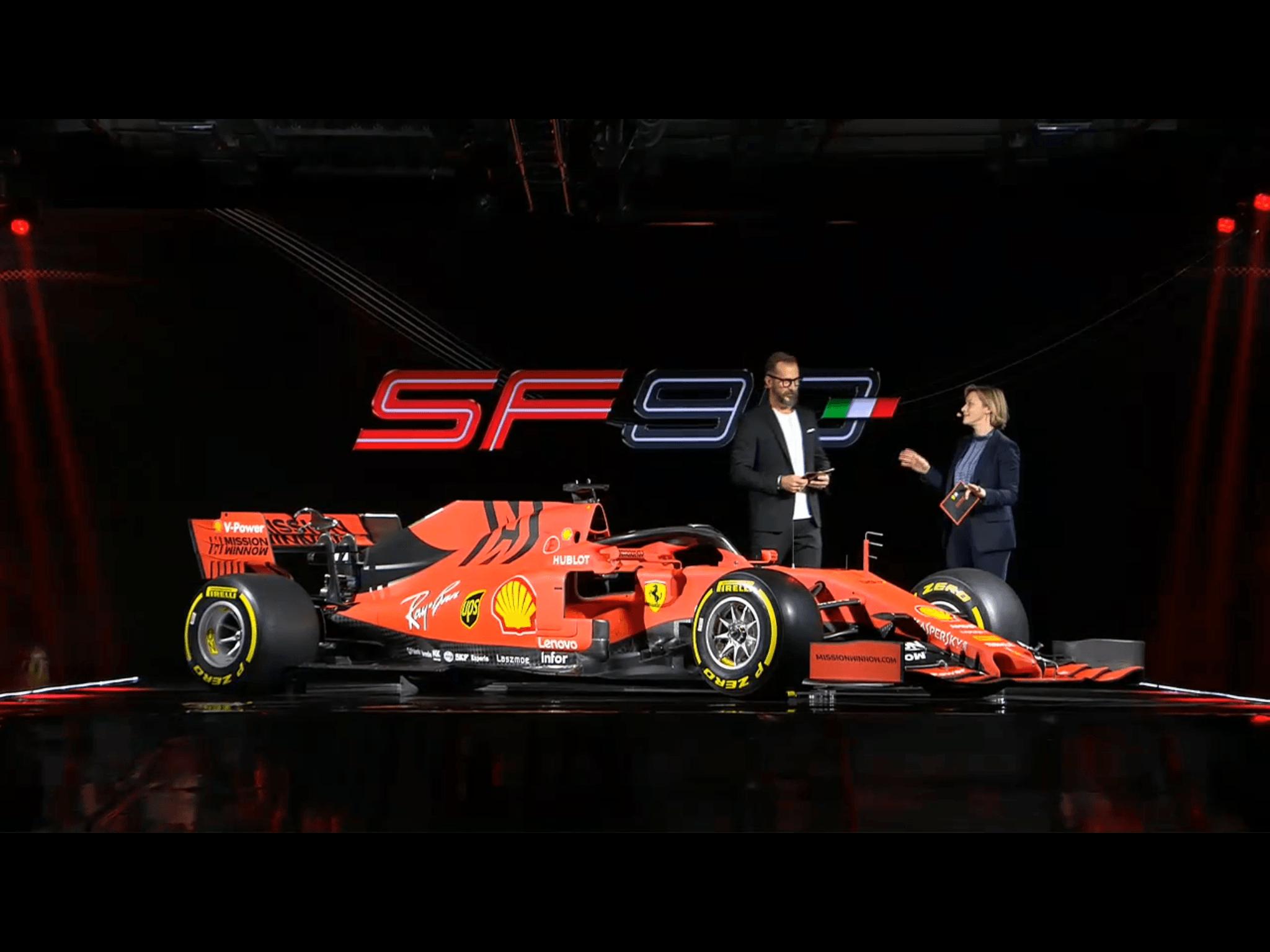 2019 Ferrari Sf90 F1 Car Launch Pictures F1 Fansitecom