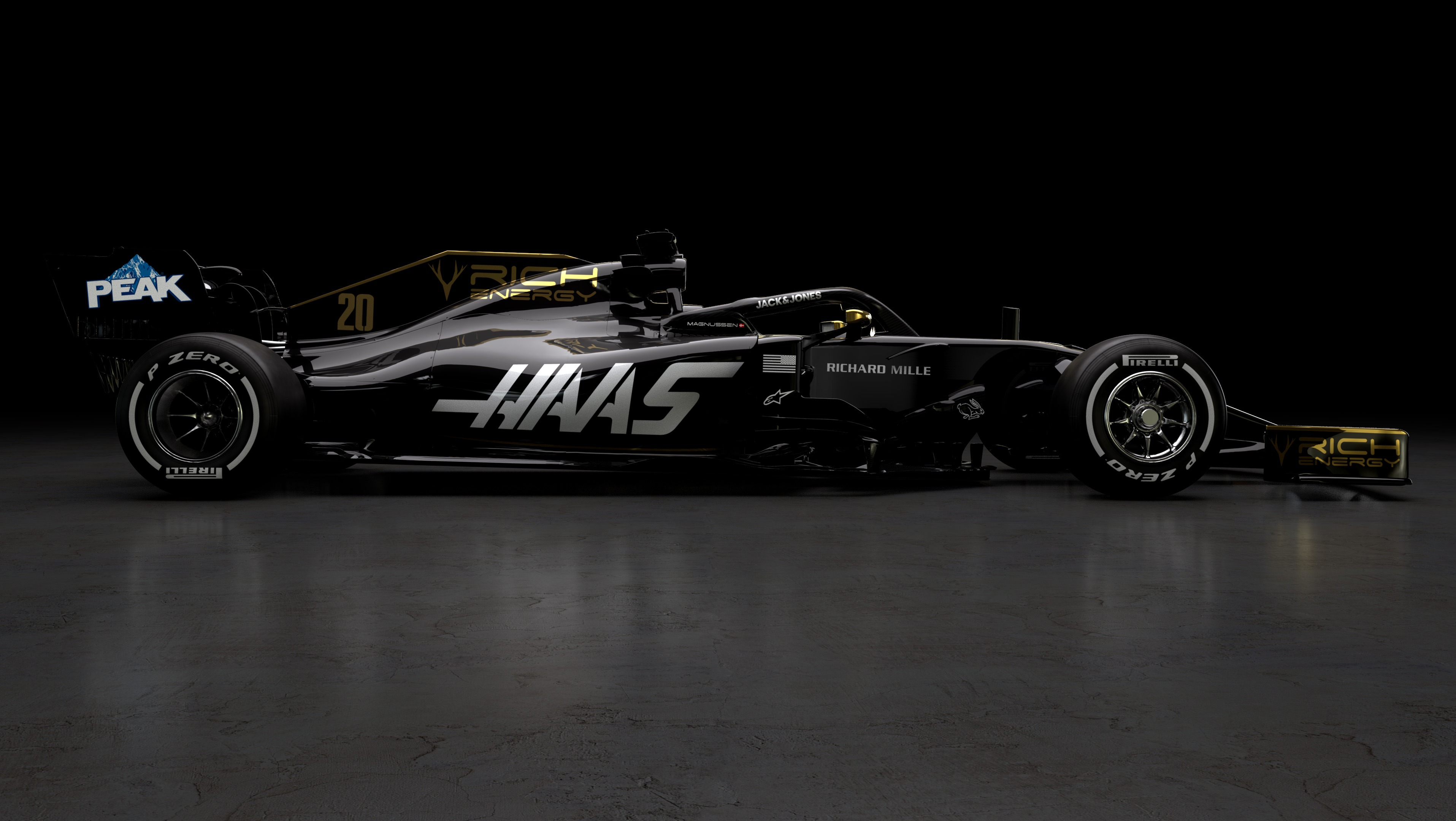 2019 haas vf 19 f1 car launch pictures f1. Black Bedroom Furniture Sets. Home Design Ideas