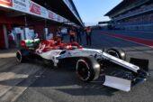 Kimi Raikkonen, Alfa Romeo Racing C38 during the Pre-season Test at Circuit de Barcelona-Catalunya (2019)