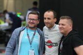 Kubica with fans