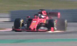 Vettels Ferrari SF90 crash video 6th day 2019 testing