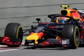 Pierre Gasly of France driving the (10) Aston Martin Red Bull Racing RB15 on track during practice for the F1 Grand Prix of Canada at Circuit Gilles Villeneuve on June, 2019 in Montreal, Canada.