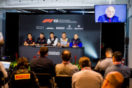 Franz Tost of Scuderia Toro Rosso and Austria during the team principal press conference during practice for the F1 Grand Prix of Canada at Circuit Gilles Villeneuve on June 07, 2019 in Montreal, Canada.