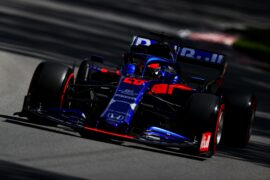 Daniil Kvyat driving the (26) Scuderia Toro Rosso STR14 Honda on track during practice for the F1 Grand Prix of Canada at Circuit Gilles Villeneuve on June 07, 2019 in Montreal, Canada.