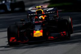 Pierre Gasly of France driving the (10) Aston Martin Red Bull Racing RB15 on track during practice for the F1 Grand Prix of Canada at Circuit Gilles Villeneuve on June 07, 2019 in Montreal, Canada.