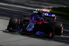 Alexander Albon of Thailand driving the (23) Scuderia Toro Rosso STR14 Honda on track during practice for the F1 Grand Prix of Canada at Circuit Gilles Villeneuve on June 07, 2019 in Montreal, Canada.