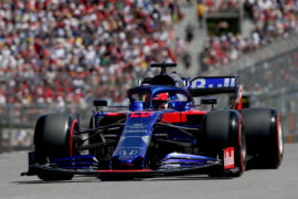 Daniil Kvyat driving the (26) Scuderia Toro Rosso STR14 Honda on track during qualifying for the F1 Grand Prix of Canada at Circuit Gilles Villeneuve on June 08, 2019 in Montreal, Canada.