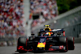 Pierre Gasly of France driving the (10) Aston Martin Red Bull Racing RB15 on track during qualifying for the F1 Grand Prix of Canada at Circuit Gilles Villeneuve on June 08, 2019 in Montreal, Canada.