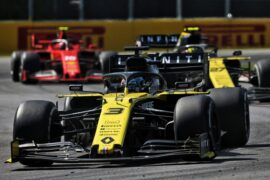 Daniel Ricciardo (AUS) Renault F1 Team RS19 celebrates at the end of the race. Canadian Grand Prix, Sunday 9th June 2019. Montreal, Canada.
