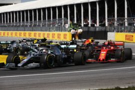 Drivers on track Mercedes/Ferrari/Red Bull/Renault Canadian GP F1/2019